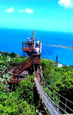 Zip lining St Thomas March 2017