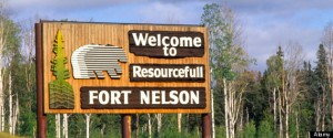 Welcome to Fort Nelson sign in British Columbia Canada