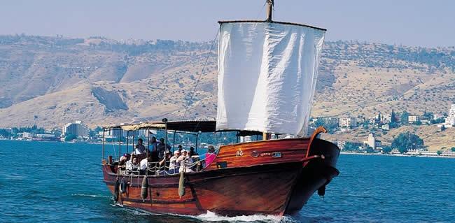 Sailing where Jesus walked on water
