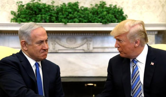 Trump meets Netanyau at the White House in Washington