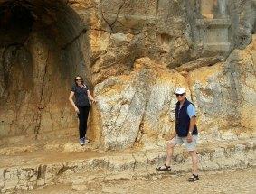 Mike hiking Caesarea Philippi