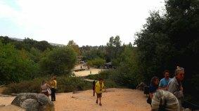Cindy hiking Caesarea Philippi