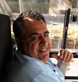 Our bus driver Bishara