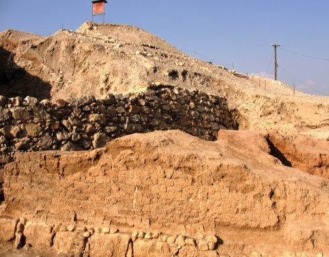 Remaining wall of Jericho