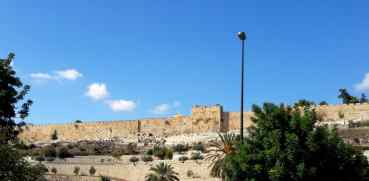Where Jesus will touch down on Mount of Olives and enter East gate...crossing Kidron Valley.