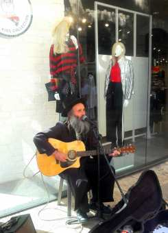 Rabbi playing Beatles song