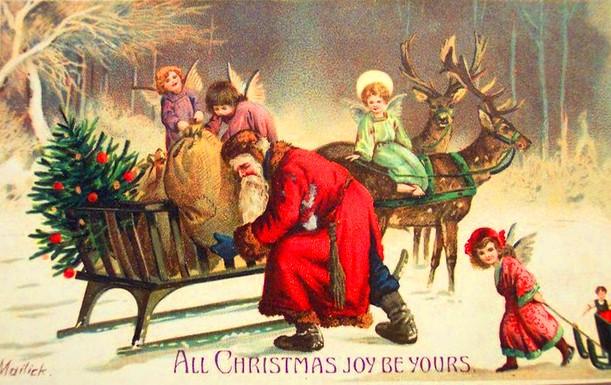 Vintage-Christmas-Nostalgia-Christmas-Card-Old