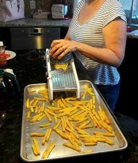 Potato salad, fries
