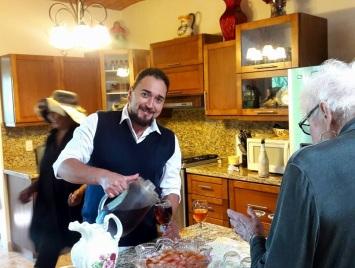 Octavio was the man serving the ladies Tea