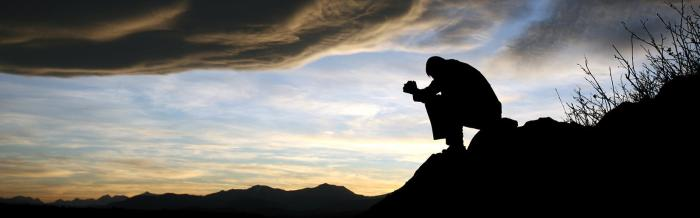 Praying on the Mountain