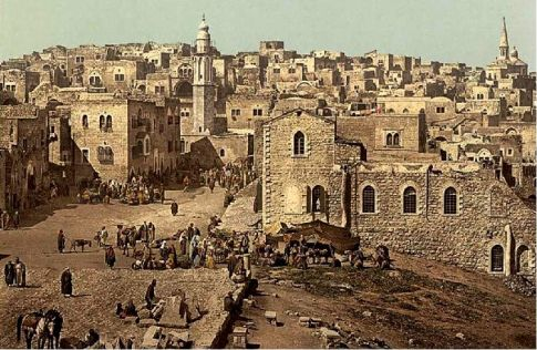 Bethlehem then and now...dusty, rocky with tension mounting