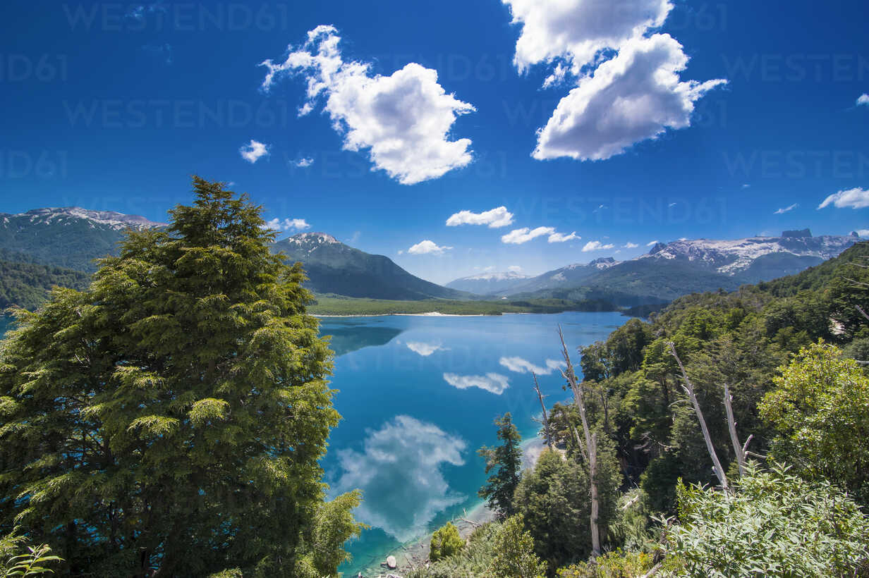 Pretty mountain lake, Road of the Seven Lakes, Argentina, South America