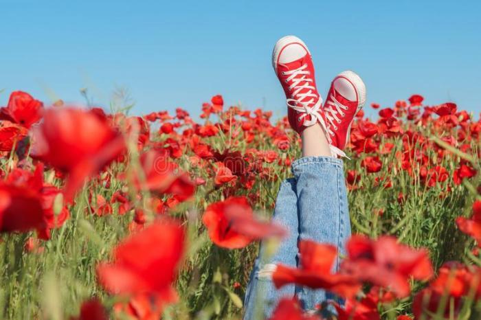 joy-fun-concept-girls-legs-red-sneakers-poppy-field-117953875